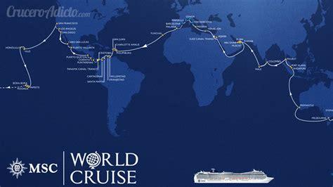 119 day cruise around the world presentada la vuelta al mundo en 119 d 237 as de msc cruceros