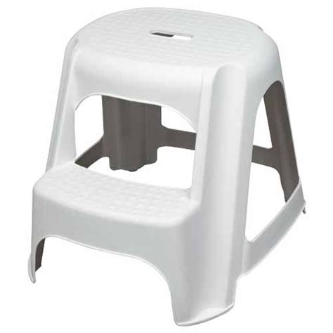 2 step plastic stool household single sided and