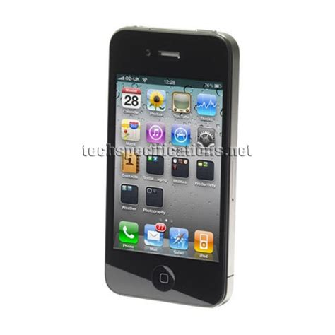 iphone 4 spec technical specifications of apple iphone 4 mobile phone