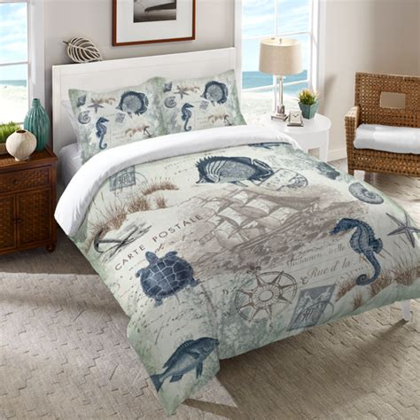seaside bedding comforters seaside postcard duvet cover laural home