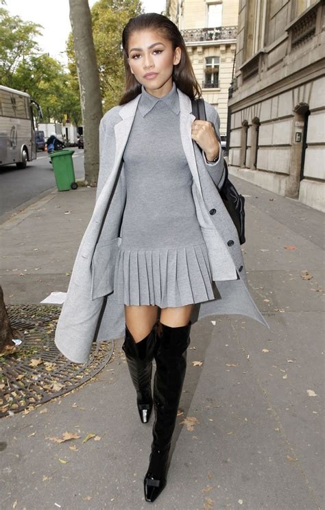 zendaya coleman style 2015 zendaya street fashion out in paris october 2015