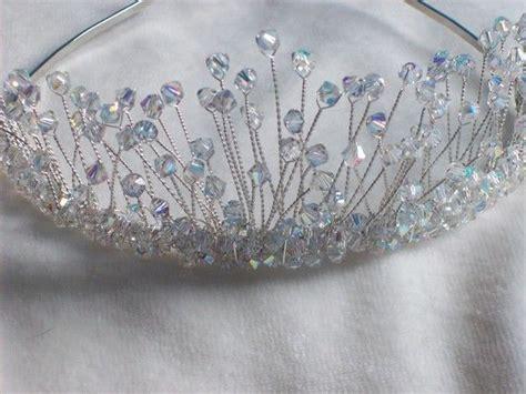Handmade Tiaras Uk - swarovski silver bridal tiara by lornagreentiaras