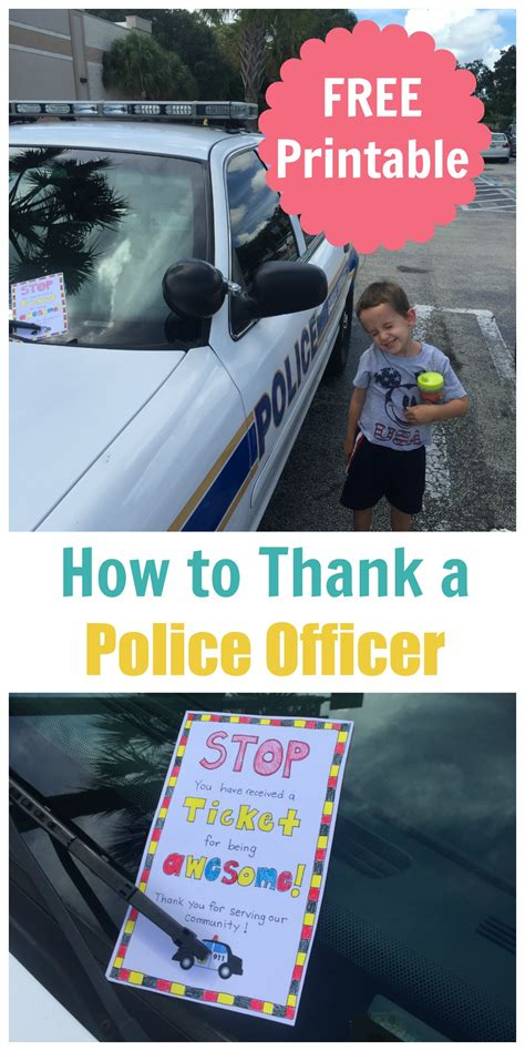 how to thank a officer free printable happy