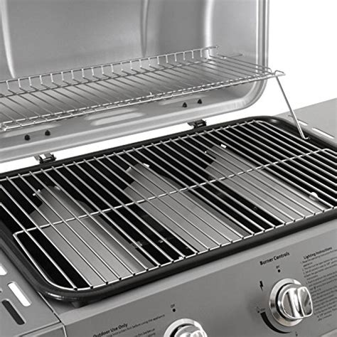 Rack And Grill 2 broil master 3 burner bbq gas grill steel barbecue with 2 side racks