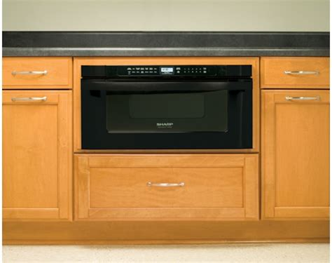 drawer style microwave oven built in microwave drawer by sharp