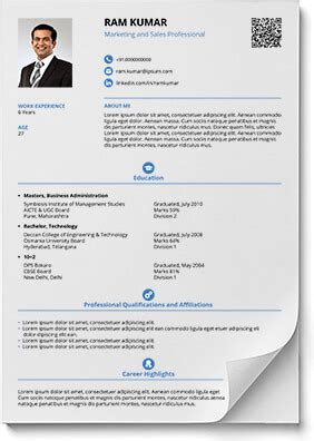 resume with photo in word format resume formats in word and pdf
