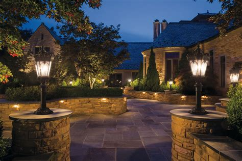 Outdoor Post Mt 4lt Bkt Kichler Outdoor Landscape Lighting