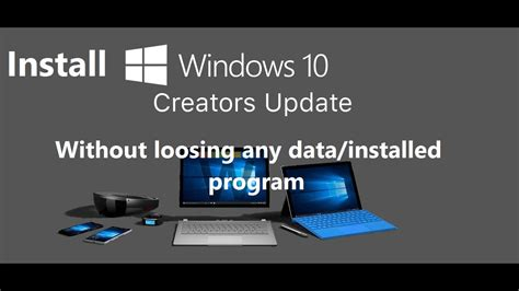 install windows 10 manually installing the creators update in windows 10 manually