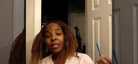 how to use soft twist rollers on senegalese twist how to curl kinky twists or hair braids with rollers and