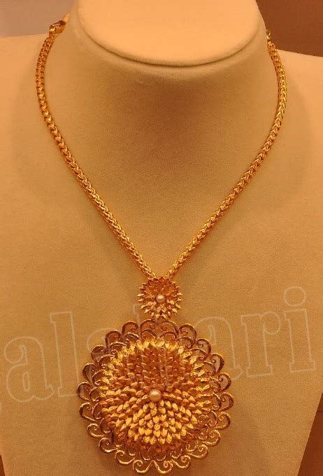 Simple Gold Necklace by Malabar Gold   Jewellery Designs