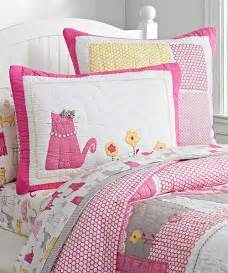 girls cat bedding kitty bedding quilt girls kitty quilt collection