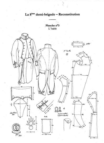general pattern of history 70 best images about napoleonic uniform sewing patterns on