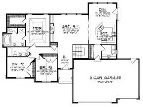 Open Floorplans Ranch Style Open Floor Plans With Basement House Plans