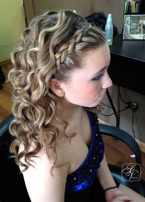 prom hairstyles curls down prom hairstyles with braids and curls half up half down