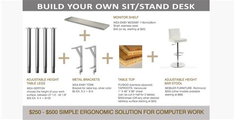 build your own sit stand desk sandrin leung architecture 187 ergonomic sit or stand