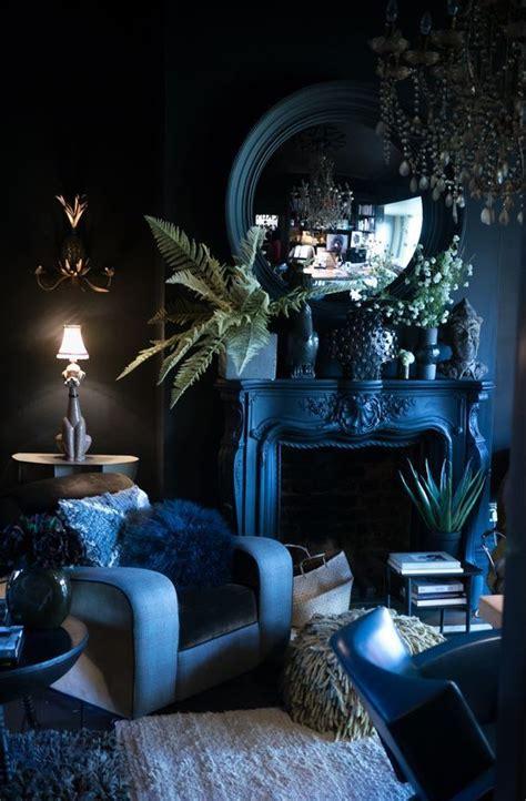 interior decorating  color cool hues dark living