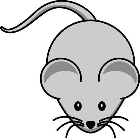 free cartoon gray field mouse clipart illustration
