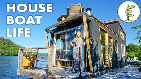 living on a house boat living on a 4 season houseboat beautiful floating tiny house eco snippets