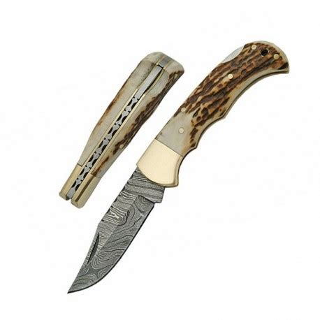 damascus folder damascus lockback folder get a sword