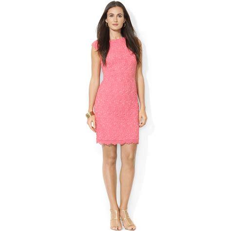 Lawren Dress lyst by ralph capsleeve crocheted lace