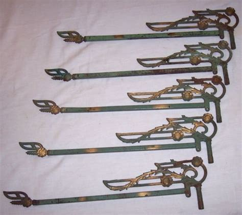 cast iron drapery rod antique cast iron extending swing arm curtain drapery rods