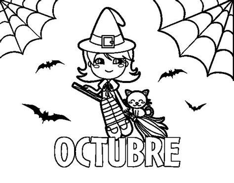 Imagenes Del Mes De Octubre Para Colorear | dibujo de octubre para colorear dibujos net