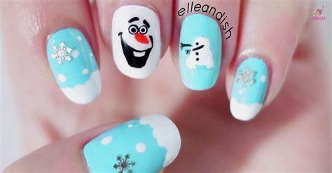 nail art olaf tutorial nail art friki para esta navidad el vortex com