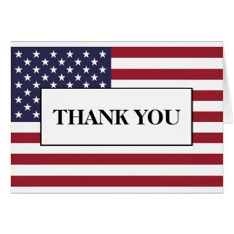 thank you card templates patriotic american flag thank you cards greeting photo cards