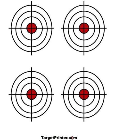 printable shooting targets printable target 4 small crosshair bullseye gun shooting
