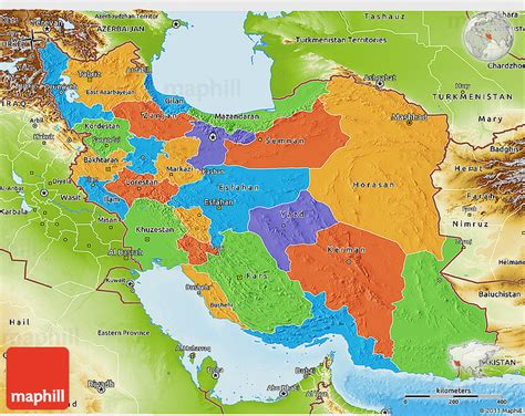 geographical map of iran iran physical features map pictures