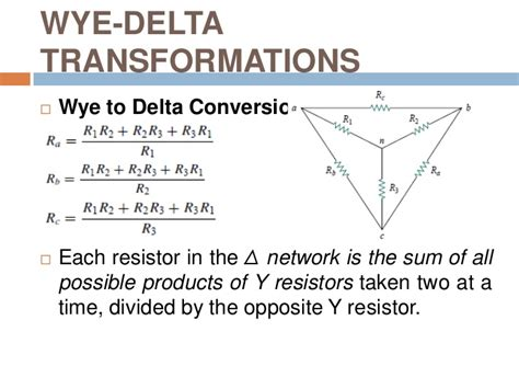 resistor network equation circuit theory mt