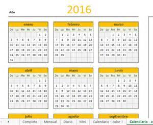 En El Calendario Calendario 2016 En Excel Aplica Excel Contable