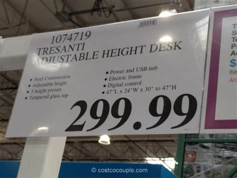 tresanti adjustable height desk costco tresanti adjustable height desk