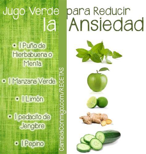 Como Hacer Un Jugo Verde Detox by Jugo Verde Para Reducir La Ansiedad Infograf 237 As Y Remedios