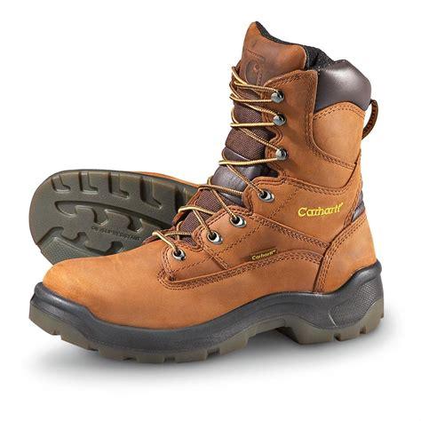 carhartt mens work boots s carhartt 174 8 quot steel toe work boots brown 168633