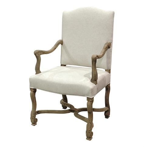 Country Armchairs by Dafny Country Empire Camel Back Dining Arm Chair