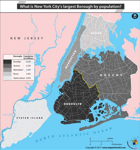 map of new york city boroughs which is new york city s largest borough by population