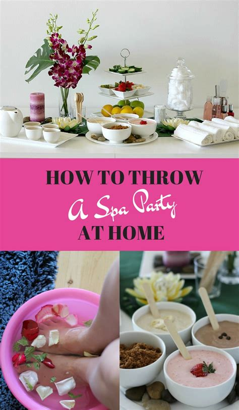 how to throw a spa at home pretty