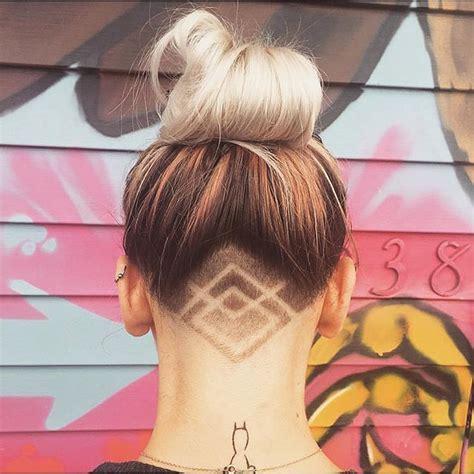 small undercuts women astonishing hidden hair tattoo ideas undercut
