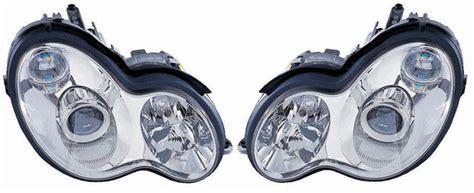 mercedes c class w203 s203 2000 2007 chrome projector headlights ebay