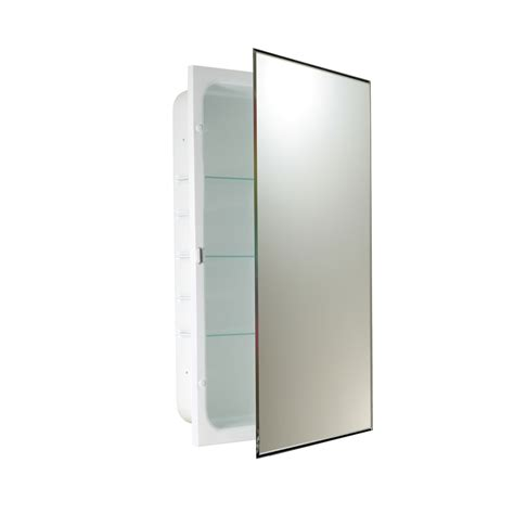 16 x 26 medicine cabinet shop allen roth 16 in x 26 in rectangle recessed