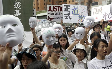 taiwan comfort women protests arise in taiwan over comfort women 2