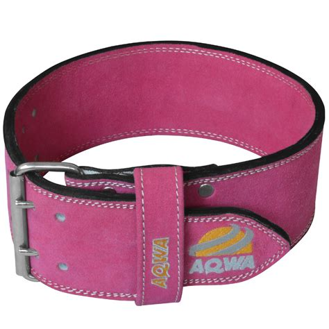 leather power lifting belt crossfit pink