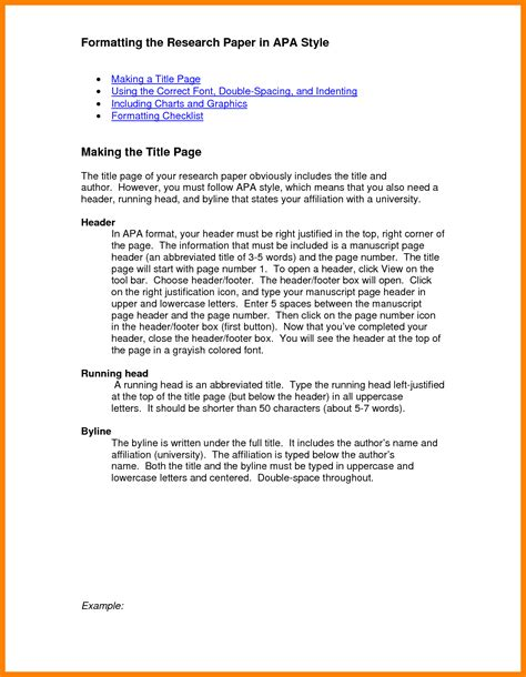 Basic Research Paper Layout by Exles Of Apa Essays Najmlaemah