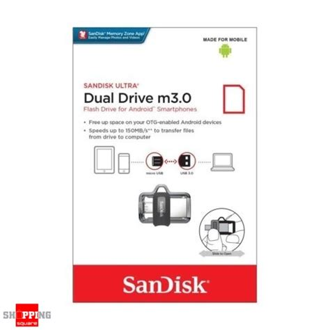 Sandisk Ultra Dual Otg Usb Flash Disk M3 0 64gb Terbaru sandisk ultra dual drive m3 0 32gb sddd3 usb 3 0 otg flash