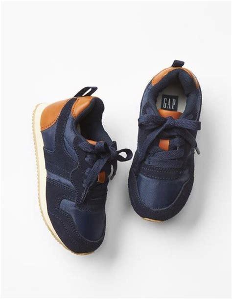 gap toddler shoes gap baby toddler boy size 9 navy blue orange sneakers