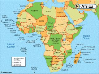 africa map 2010 africa 2010 map of africa