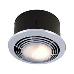 Heat Light Exhaust Fan Bathroom 70 Cfm Ceiling Exhaust Fan With Light And Heater 9093wh The Home Depot