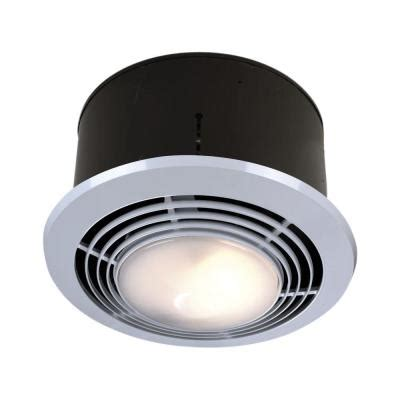 Bathroom Light With Heater And Fan 70 Cfm Ceiling Exhaust Fan With Light And Heater 9093wh The Home Depot