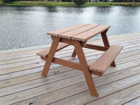 diy composite toddler picnic table plans